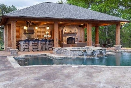 13 Casual Cabana Swimming Pool Design Ideas 56