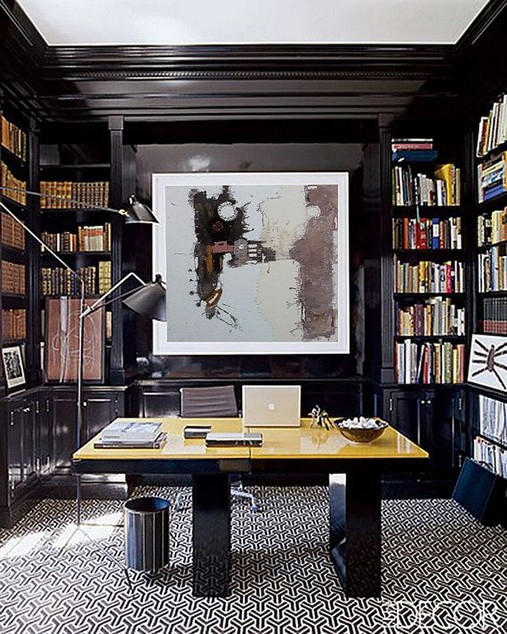 13 Elegant Dark Table Designs Ideas For Home Office 26