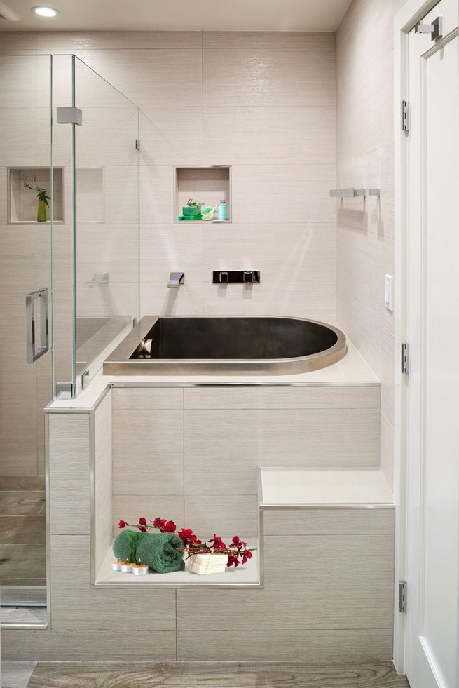 14 Delightful Bathroom Tub Shower Combo Remodeling Ideas 17