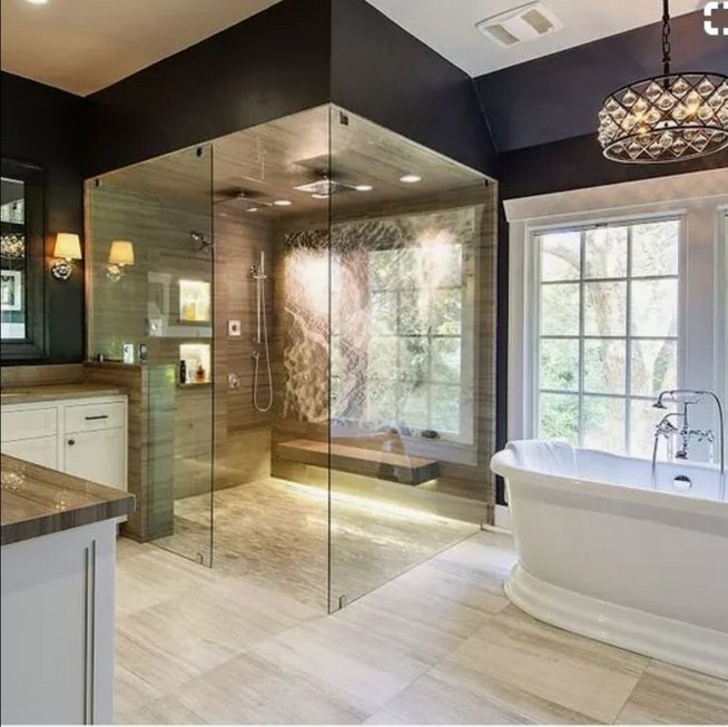 14 Delightful Bathroom Tub Shower Combo Remodeling Ideas 27