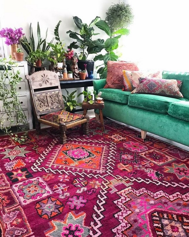 14 Incredible Colorful Bohemian Living Room Ideas For Inspiration 89
