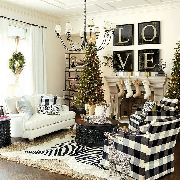 14 Relaxing Living Room Ideas With Black And White 14