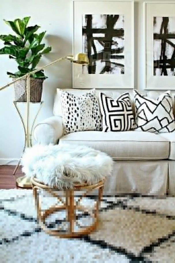 14 Relaxing Living Room Ideas With Black And White 45