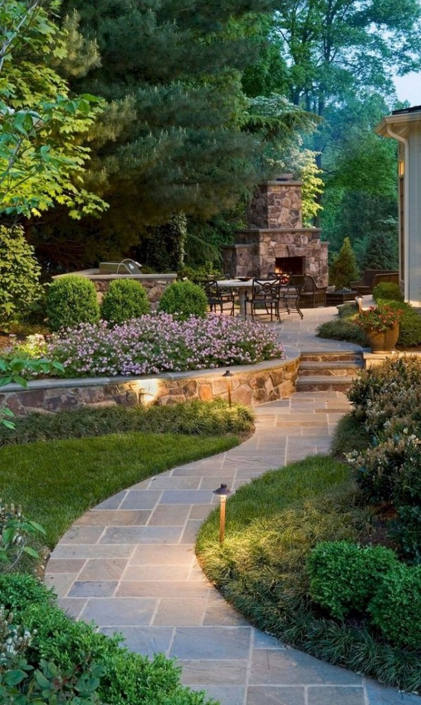 16 Delicate Garden Landscaping Design Ideas Using Rocks Stone 02