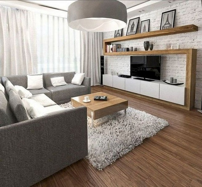 16 Elegant Living Room Shelves Decorations Ideas 12