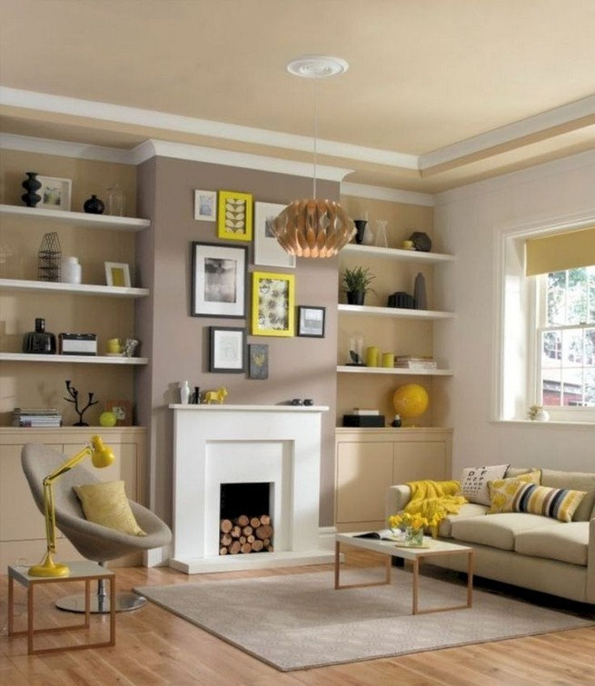 16 Elegant Living Room Shelves Decorations Ideas 17