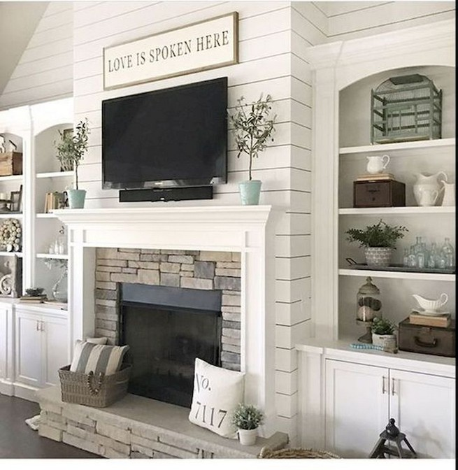16 Elegant Living Room Shelves Decorations Ideas 20