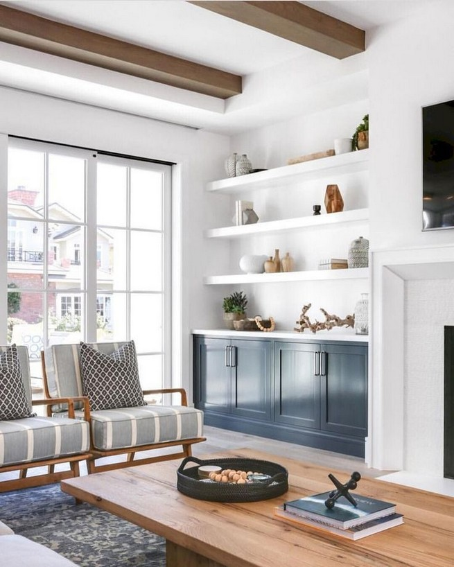 16 Elegant Living Room Shelves Decorations Ideas 30