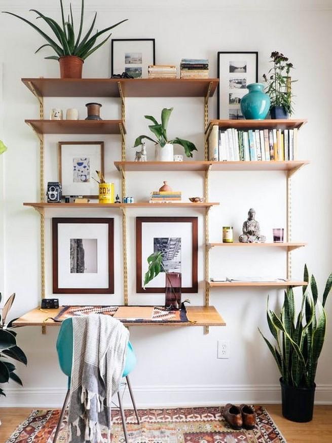 16 Elegant Living Room Shelves Decorations Ideas 40