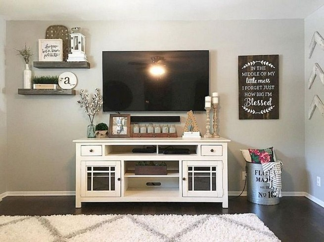 16 Elegant Living Room Shelves Decorations Ideas 56