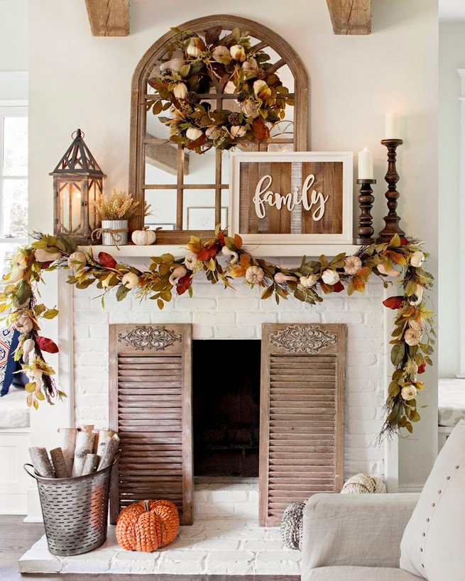 15 Inspiring Farmhouse Fall Decor Ideas 21