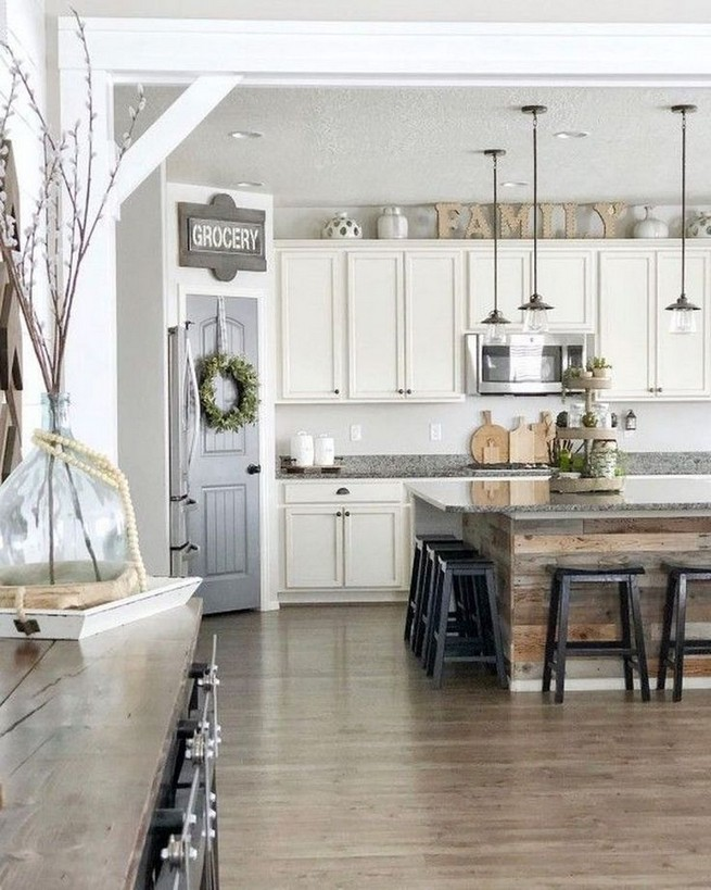18 Awesome Modern Farmhouse Kitchen Cabinets Ideas 34