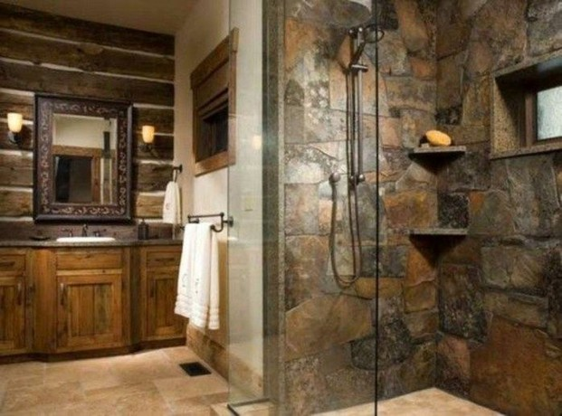 18 Stylish Bathroom Designs Ideas With Addition Of Stone For Elegant Look 16
