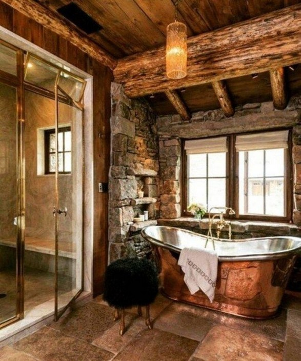 18 Stylish Bathroom Designs Ideas With Addition Of Stone For Elegant Look 23
