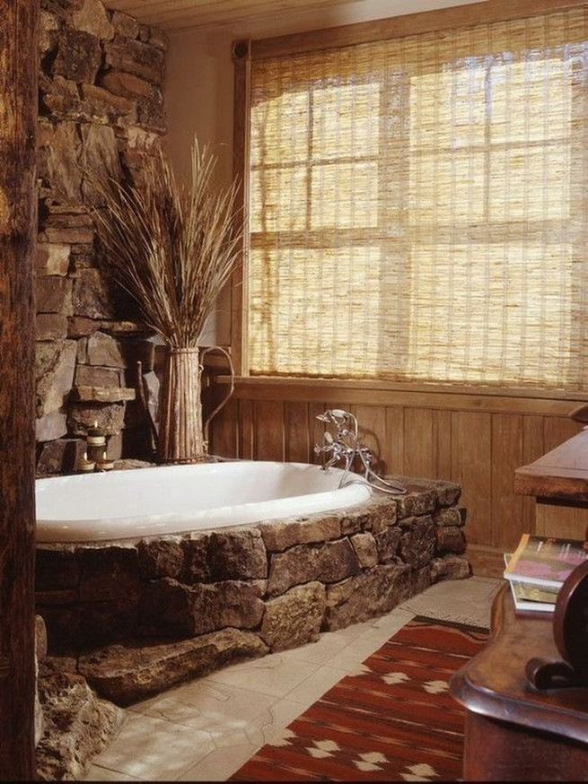 18 Stylish Bathroom Designs Ideas With Addition Of Stone For Elegant Look 34
