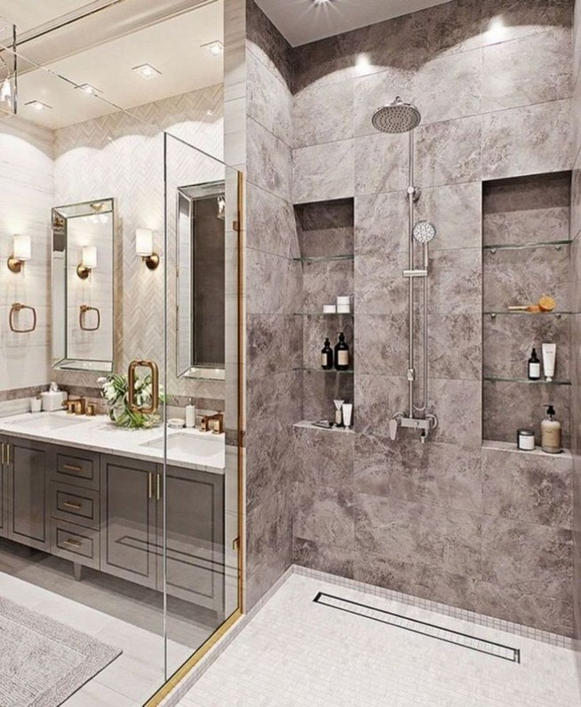 18 Stylish Bathroom Designs Ideas With Addition Of Stone For Elegant Look 38