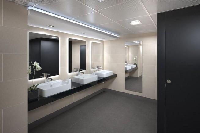 19 Captivating Public Bathroom Design Ideas 43