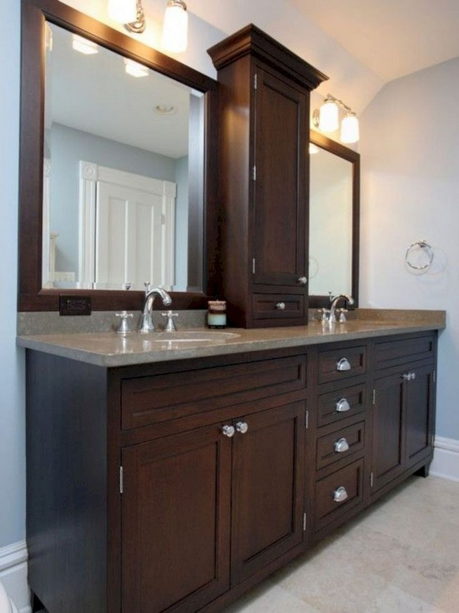 19 Delight Contemporary Dark Wood Bathroom Vanity Ideas 16