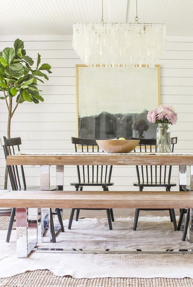 19 Fancy Farmhouse Dining Room Design Ideas 22