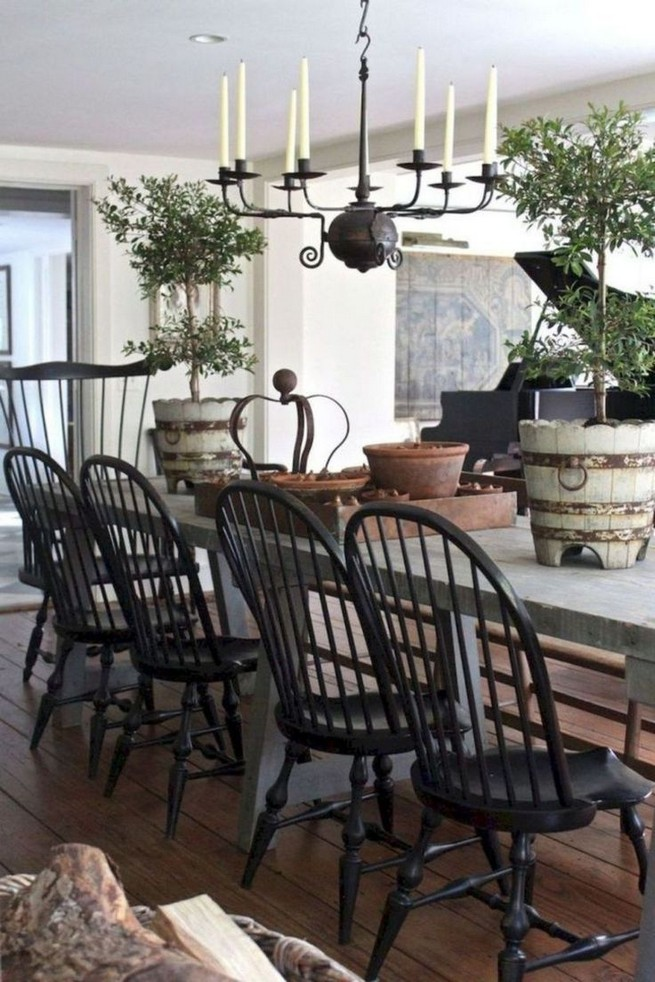 19 Fancy Farmhouse Dining Room Design Ideas 49