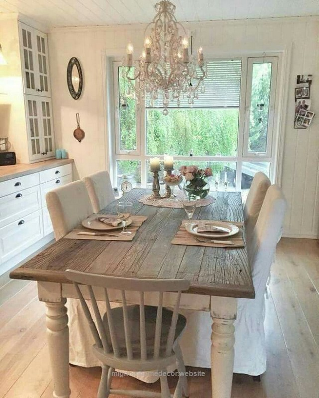 19 Fancy Farmhouse Dining Room Design Ideas 53