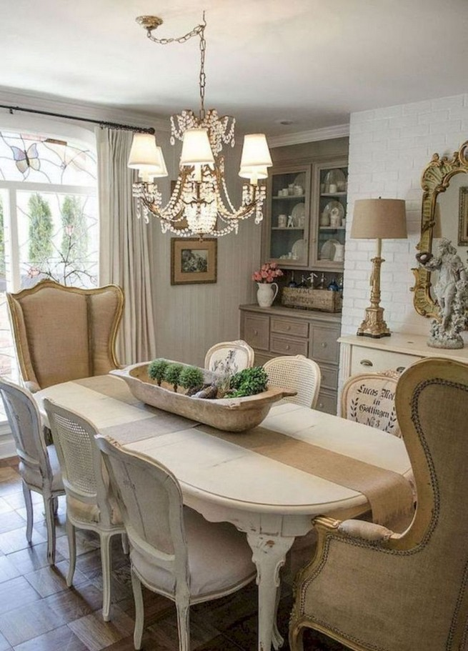 19 Fancy Farmhouse Dining Room Design Ideas 60