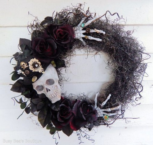 20 Adorable Diy Halloween Wreaths Design Ideas 38