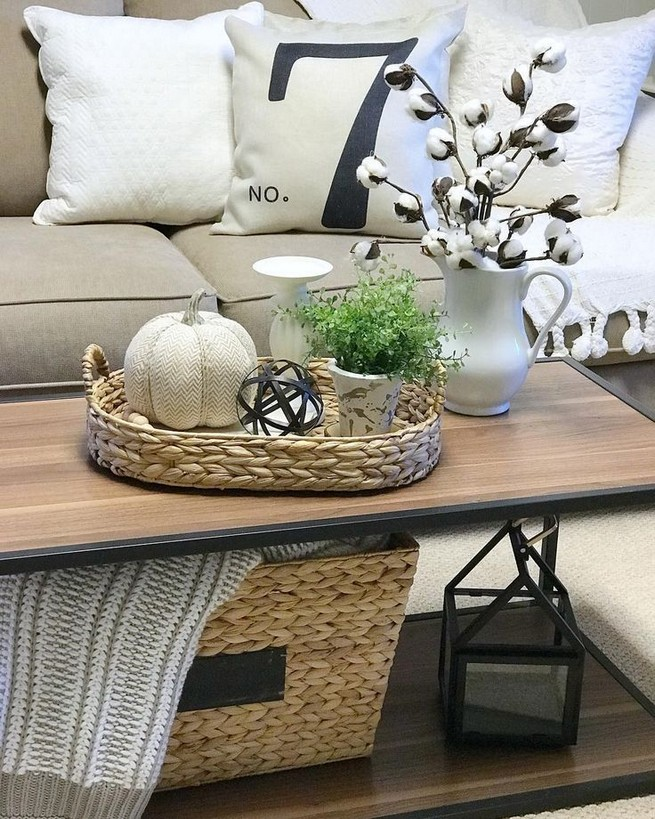 20 Lovely Winter Coffee Table Decoration Ideas 02