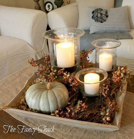 20 Lovely Winter Coffee Table Decoration Ideas 41