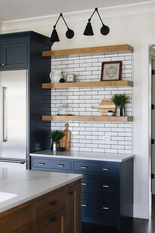 21 Inspiring Black And White Wall Design Ideas For Kitchen 19