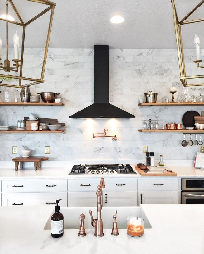 21 Inspiring Black And White Wall Design Ideas For Kitchen 30