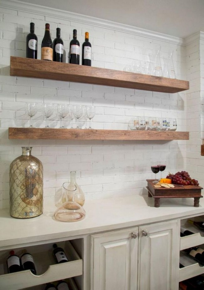 21 Stylish Rustic Kitchen Decor Open Shelves Ideas 02