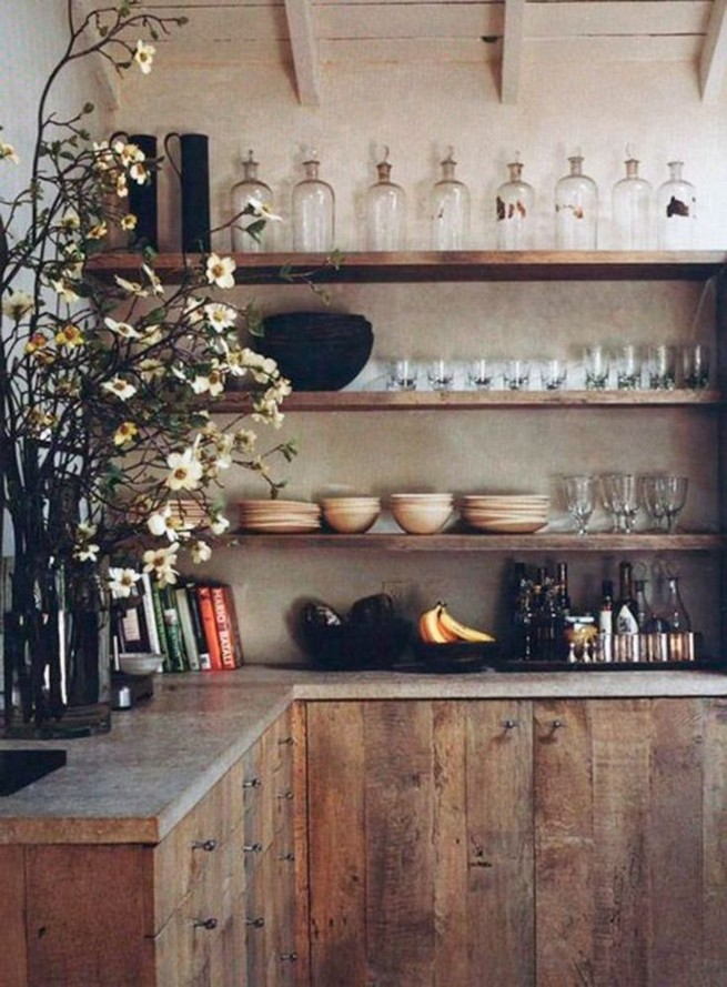 21 Stylish Rustic Kitchen Decor Open Shelves Ideas 50