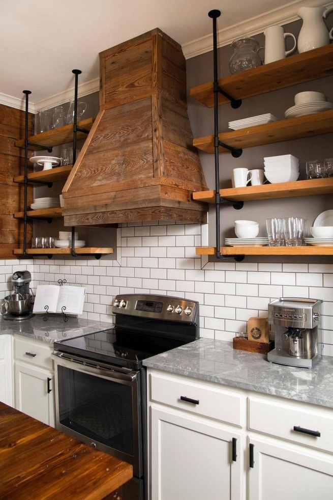 21 Stylish Rustic Kitchen Decor Open Shelves Ideas 56