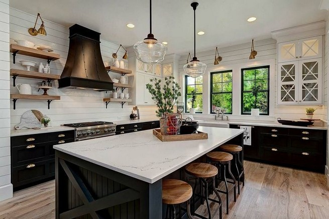 21 Stylish Rustic Kitchen Decor Open Shelves Ideas 60