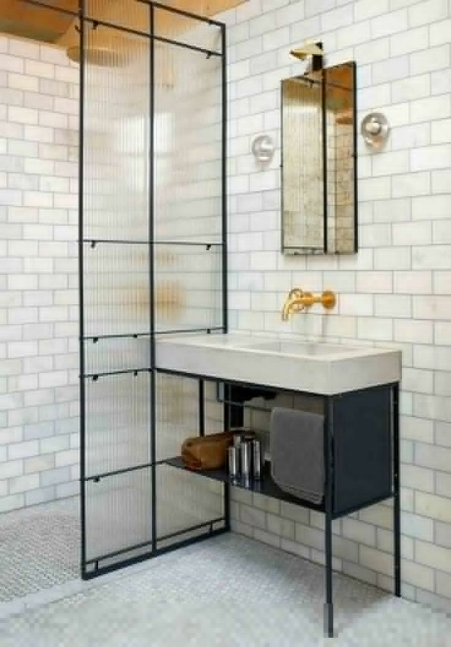23 Stunning Black Shower Tiles Design Ideas For Bathroom 04