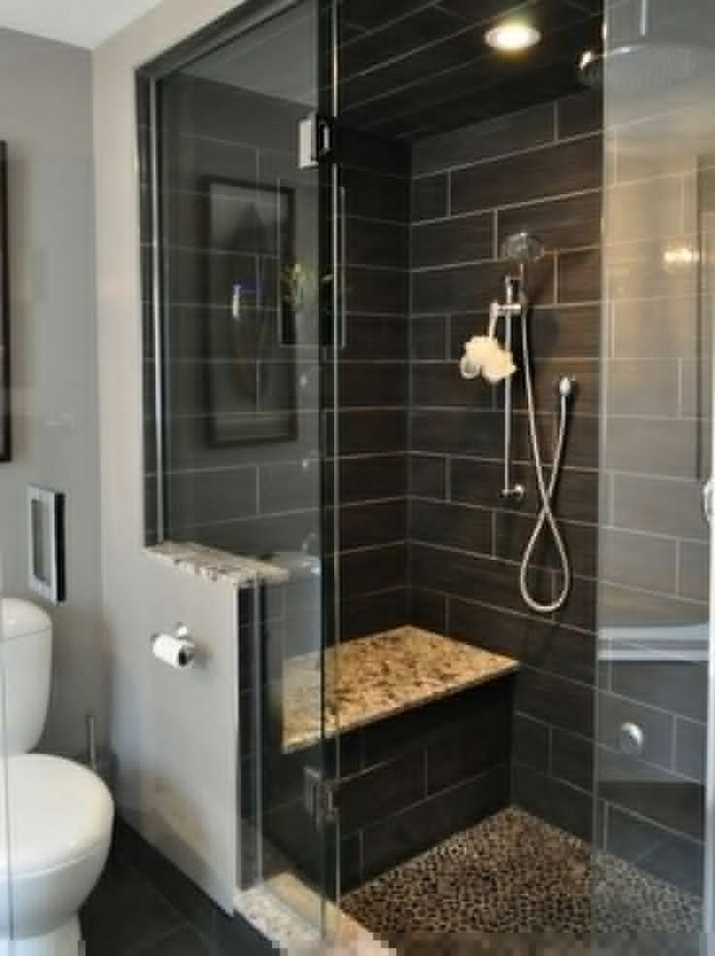 23 Stunning Black Shower Tiles Design Ideas For Bathroom 13