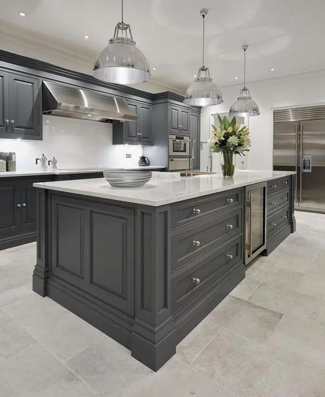 Grey Kitchen Ideas That Are Sophisticated And Stylish: 13+ Elegant Grey Kitchen Backsplash Ideas Inspiration