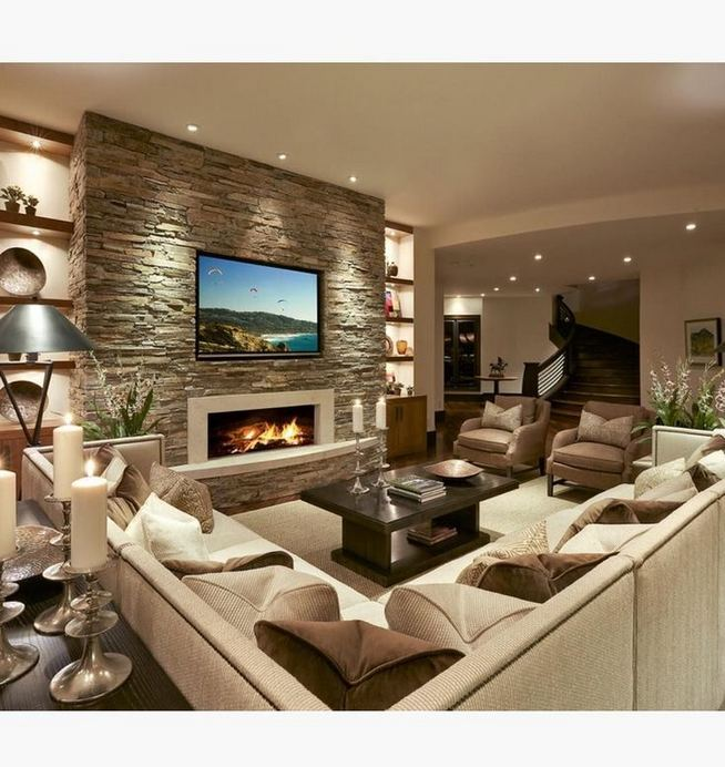 13 Impressive Living Room Ideas With Fireplace And Tv 38