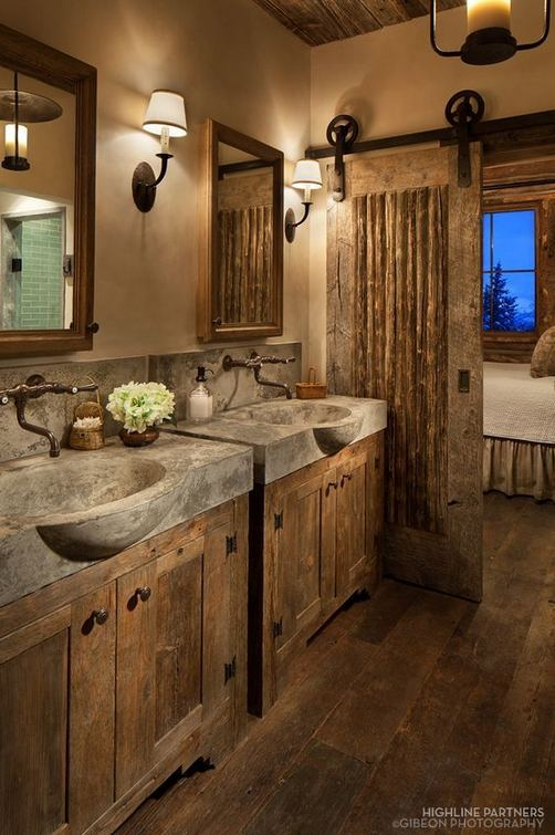 14 Relaxing Luxury Master Bathroom Design Ideas With Rustic Style 05