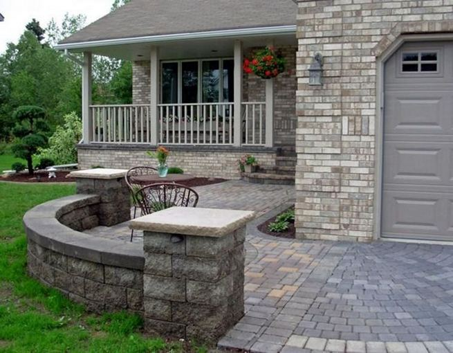 15 Beautiful Front Yard Patio Designs Ideas 11
