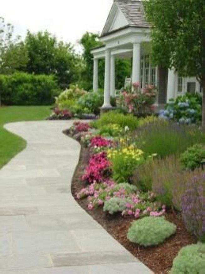 15 Elegant Front Sidewalk Landscaping Ideas 18