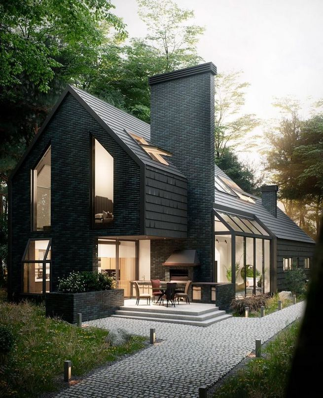 18 Best Ideas For Black House Exterior Design 36
