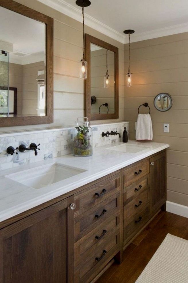 20 Gorgeous Small Bathroom Vanities Design Ideas 24