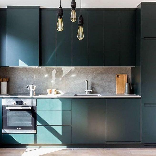 21 Gorgeous Dark Blue Kitchen Cabinets 12