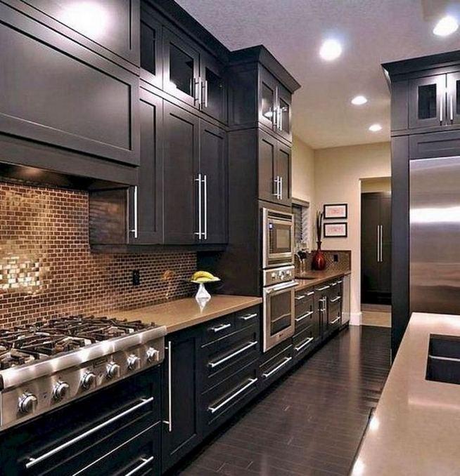 21 Gorgeous Dark Blue Kitchen Cabinets 30