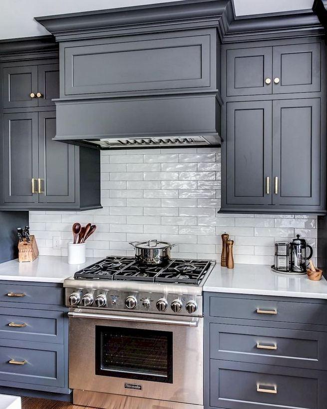 21 Gorgeous Dark Blue Kitchen Cabinets 34