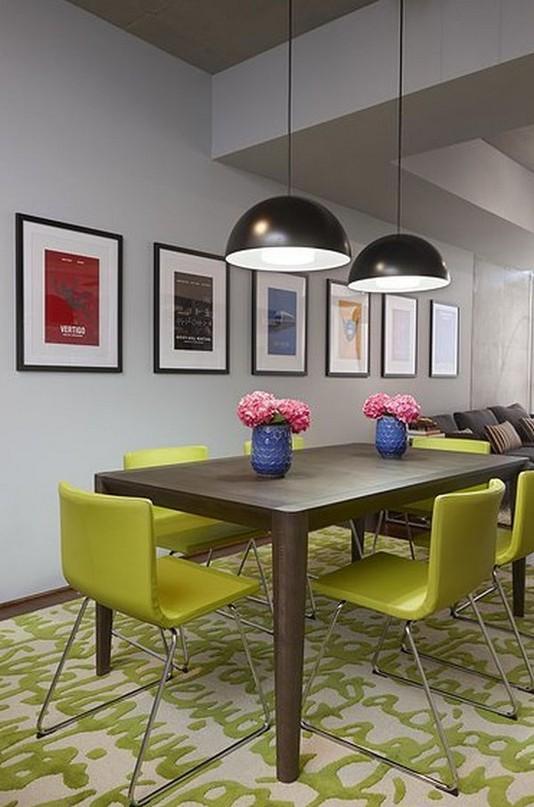 22 Easy Green Dining Room Design Ideas 17