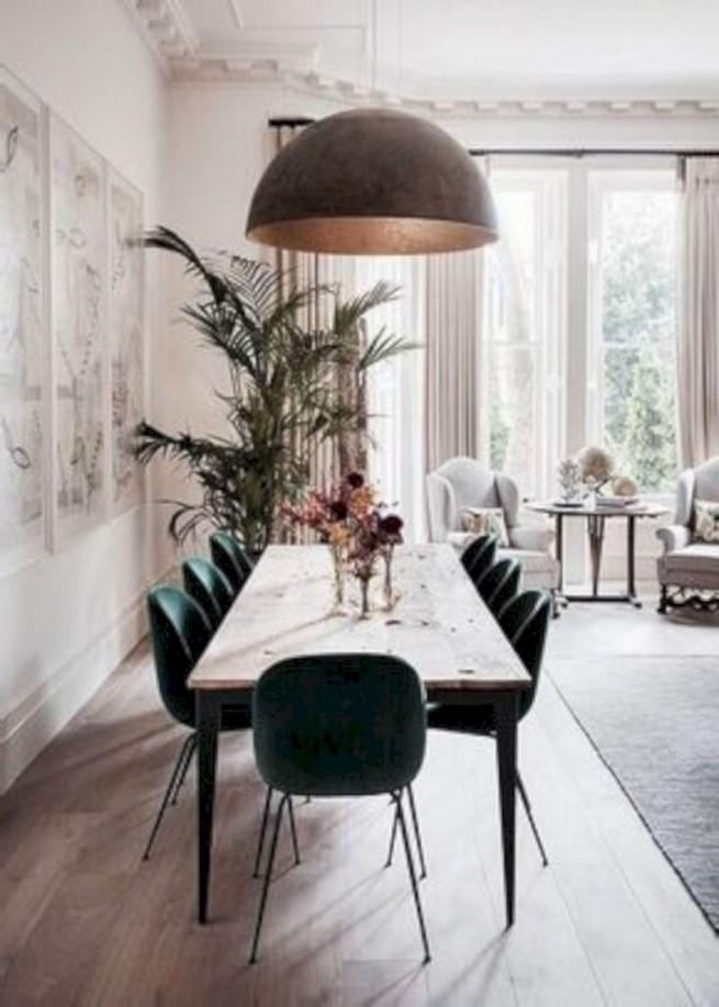 22 Easy Green Dining Room Design Ideas 43