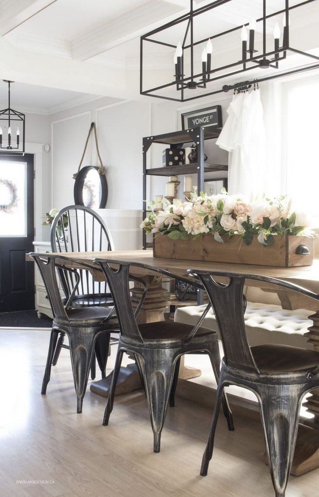 22 Stylish Modern Farmhouse Dining Room Remodel Ideas 12